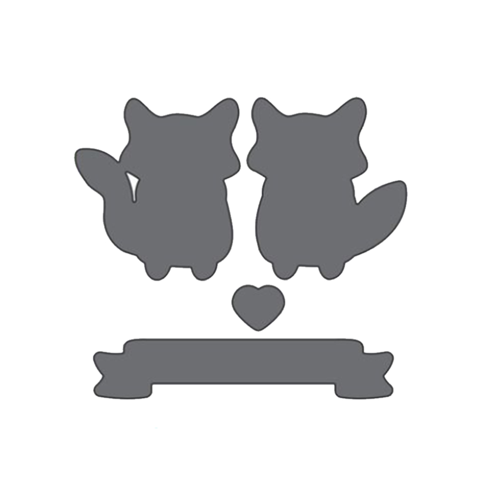 Eastshape foxes animals metal dies cutting for scrapbooking New Crafts for making Greeting Album decorations Cutting dies in Cutting Dies from Home Garden