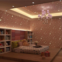 Wallpapers Youman 3D Waterproof Wallpaper Luminous star fluoresce for walls in rolls for bathrooms for kids room for living room