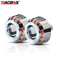 Pair 3'' inch HID Bi xenon Projector Lens Headlight High Low Beam Double Angel Eyes H1 H4 H7 6000k 4300k 12000k 5000k 8000k