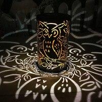 1 шт. Солнечный Фонари Сова Стиль настольная лампа Подвесные светильники ночник для украшения дома