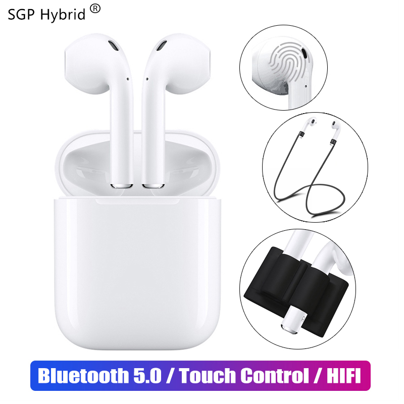 D'origine i12 TWS 2019 Bluetooth 5.0 Écouteur Mini écouteurs sans fil véritables + 2 Couverture Kits Date i10 TWS air gousses 3D casque stéréo