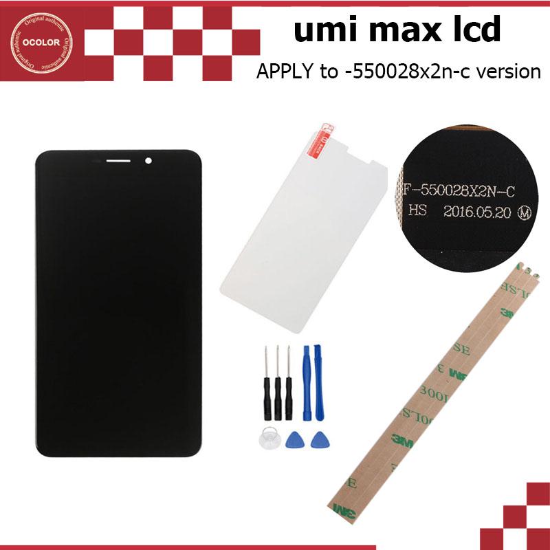 Prix pour Umi Max LCD + Tactile Écran et Trempé Verre Film L'assemblée parfait remplacement D'origine pour Umi Max 5.5 Pouce Umi Max Accessoires