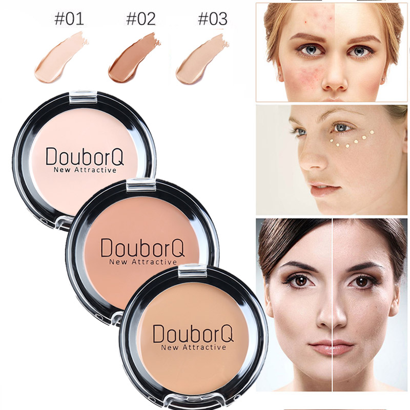 3Color Concealer Full Cover Cream Facial Make Up Waterproof Foundation Face Contour Makeup Pores Corrector Brand Eye Cosmetic image