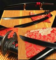 41'1060 CARBON STEEL BLACK BLADE FULL TANG JAPANESE SAMURAI KATANA SWORD