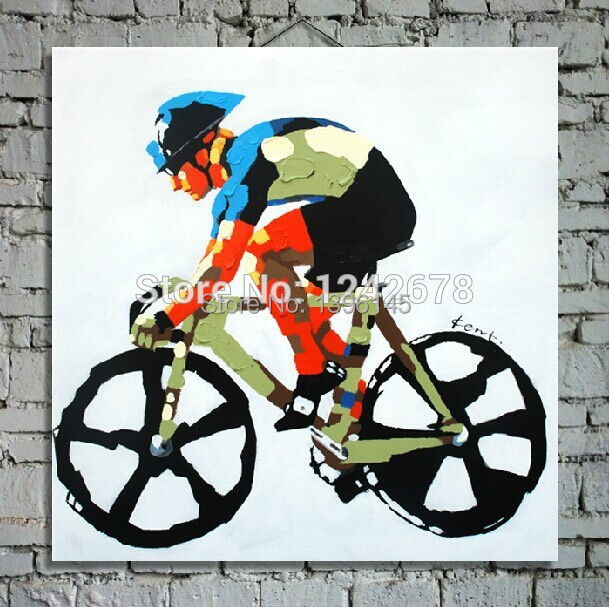 New York Bicycle Thick Oil Painting Modern Decorative Painting Wall Pictures For Living Room Back To The Future Picture Oil Art