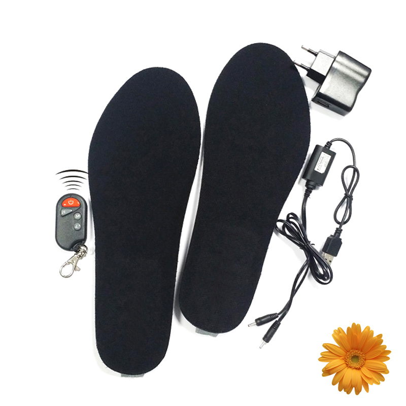 Winter Outdoor Skiing 1800mAh Battery Heated Insoles Men semelle chauffante Women Remote Wireless Electric Heating Soles (S / L) savior s 16 lithium battery electric heating winter gloves for skiing riding cycling low temperature men women