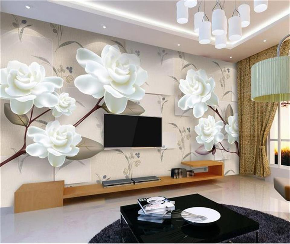 где купить custom size 3d photo wallpaper living room mural peony flower block simple 3d painting sofa TV background wallpaper for walls 3d по лучшей цене