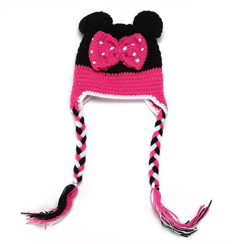 Historieta Mickey Minnie bebé sombrero crocheted mano recién nacido ...