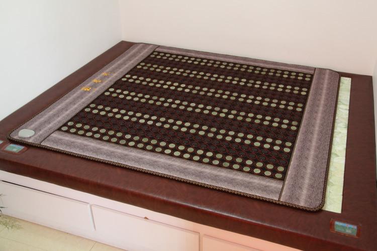 New Sale Tourmaline heating mattress Stone Massage Cushion Thermal Mat Infrared Heating Mat 1.0X1.9M 2016 new sale tourmaline bed cushion best mattress for back pain thermal sofa mattress heating mat free shipping 1 0x1 9m