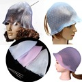 Reusable Silicone Hair Coloring Dying Cap Hair Salon Tool With Frosting Tipping Hairdresser Supplies