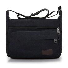 лучшая цена Men Messenger Bags Men's Fashion Business Travel Shoulder Bags female Canvas Briefcase Men Crossbody Bag Preppy Style Book Bag