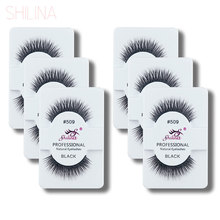SHILINA False Eyelashes 6 Pairs Handmade Fake Eye Lashes Natural Thick With Retail Box Professional Makeup Wholesale 509