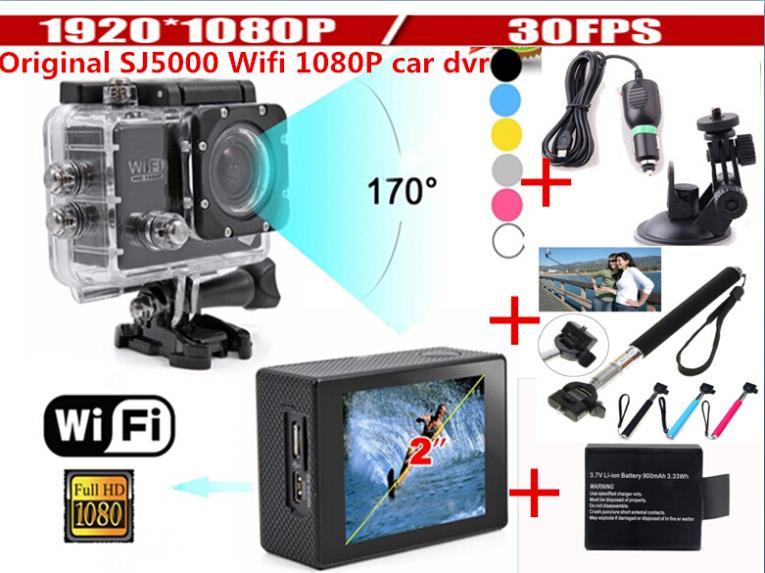ФОТО New SJ6000 Wifi 2 inch screen 1080P Full HD Diving 30M Waterproof Sport dv Go pro Hero3 sj4000 sj5000 wifi car dvr camera dvrs