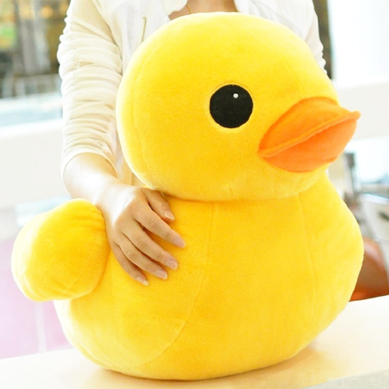 Hot Stuffed Dolls Rubber Duck Hongkong Big Yellow Duck Plush animal baby Toys Hot Sale Best Gift for kids girls friends image