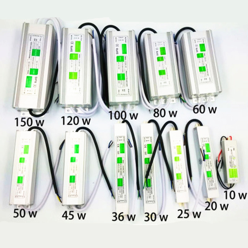Waterproof 10W - 150W AC110-260V to DC12V/<font><b>24V</b></font> <font><b>Led</b></font> Driver Transformer Power Supply Adapter Electronic outdoor <font><b>IP68</b></font> <font><b>led</b></font> <font><b>strip</b></font> lamp image