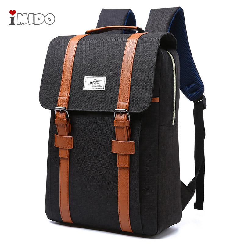 Fashion Business Laptop Backpack Unisex Women Men College Canvas School Bag Travel Rucksack Pink Black Waterproof