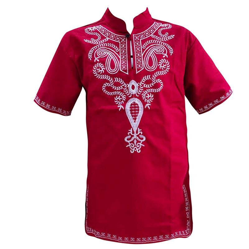 Muslim Mens Clothing Arab Ethnic Embroidered T-shirt Dubai Male Short Caftan Wedding Tops