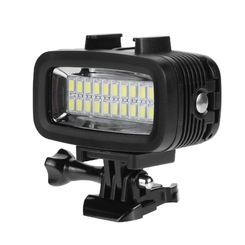 40M Underwater Waterproof Diving Light 5500K 6W 20 LED Photography Light Diving Video Fill-in Light Lamp For GoPro Hero mcoplus le 160y 25m 82ft 5500k 2000lm diving underwater waterproof video led light for digital camera gopro hero camera