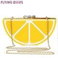 FLYING BIRDS! 2015 Популярные женщин сумки Банкетный сцепления вечерние сумки посыльного сумки цепи плеча кошелек фрукты стиль мешок LS5495