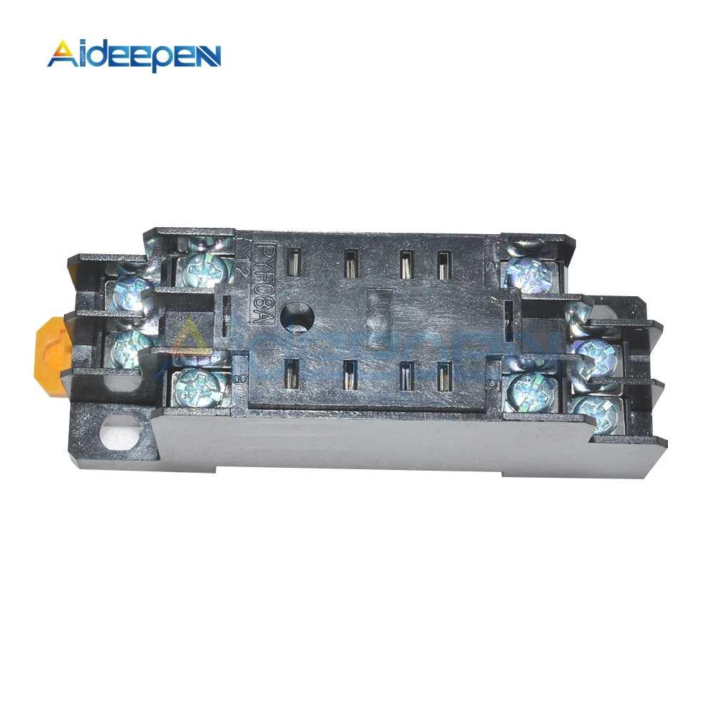 AC 220V DC 24V 5A 8 Pin PYF08A Röle Soket Tabanı için MY2NJ/HH52P/H3Y-2/ ST6P