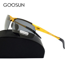 GOOSUN Aluminum Magnesium Luxury brand Men's Polarized Sunglasses oculos Male Eyewear night vision Driving Sun Glasses For Men