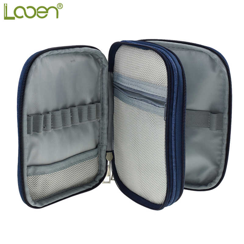 Looen 3 Types Empty Crochet Hook Pouch Storage Bag Knitting Kit Case Organizer Bag For Sewing Crochet Needles Scissors Ruler