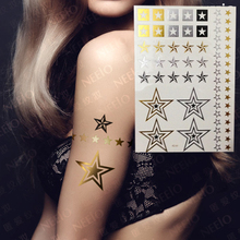 Fashion Star Inspired Body Tattoo U.S Hot Bling Metallic Jewelry Temporary Tattoo Fake Tattoos Body Art Party Supplies
