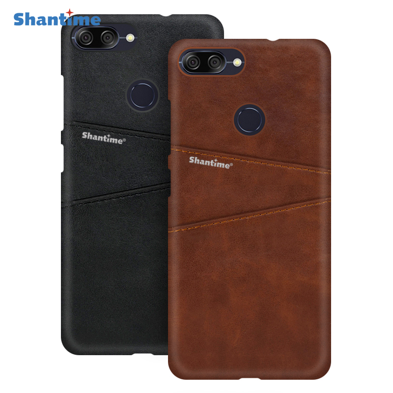 PU Leather Back Cover For Asus Zenfone Max Plus M1 ZB570TL Phone Case For Asus Zenfone Max Plus M1 ZB570TL Card Slot Case