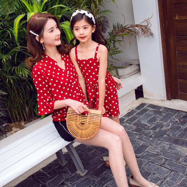 Chiffon matchende mor datter tøj