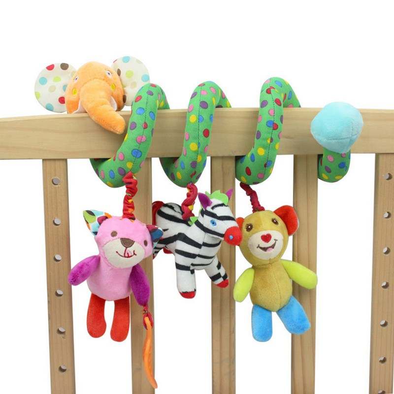 Animal Style Baby Rattles Crib Revolves Around Bed Stroller Playing Toy Hanging Hand Bell Mobile Baby Toys 0-12 Months