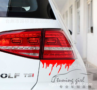 Car Stickers Wound Bleeding Blood Creative Decals Waterproof Auto Tuning Styling 25*12cm D10