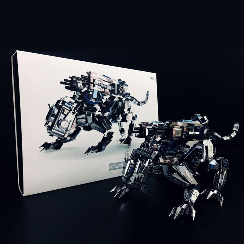 8 штук 366 кусочков деталей Креативные 3D DIY Металлические бойцовские доспехи Полицейские собаки собрать модель головоломки Коллекция игрушек - 4