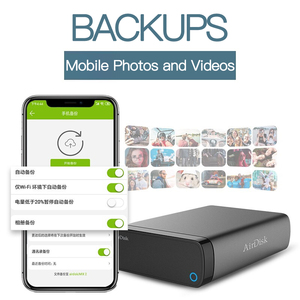 "Image 4 - Airdisk Q3X Mobile networking hard Disk USB3.0 NAS Family Network Cloud Storage 3.5"" Remotely Mobile Hard Disk Box(NOT HDD)"