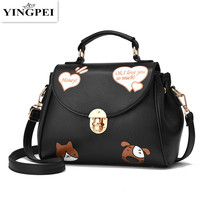 YINGPEI Cat and Dog Animal Prints Women Messenger Bags Crossbody Bag Famous Brands Designer Woman Leather Handbags Purses Lovers