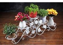 Европейский цветок железа. искусство балкон многослойная флорист. консоли горшок кадров.