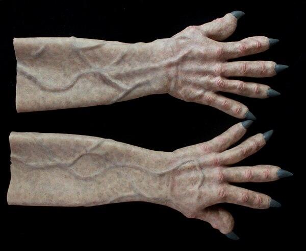Гриффин ужас силиконовые перчатки Локоть Хэллоуин Трансвестит реалистичные поддельные руки с росписью вены и дерматоглифы и ногтей
