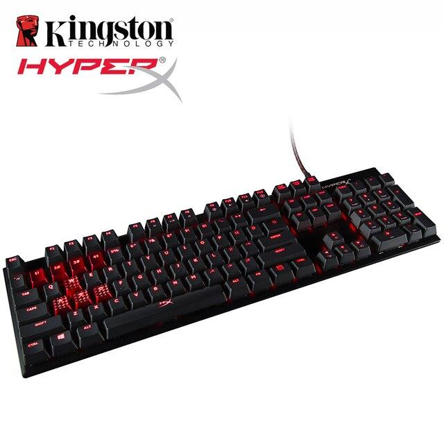 HyperX alaşım FPS mekanik oyun klavyesi arka işık LED 100 yüzde anti gölgelenme ve tam N tuşu rollover fonksiyonları