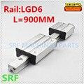 1 set Aluminium Quadrat linearführungsschiene Doppel Achse Externe Führungsschiene LGD6 L = 900mm mit 4 räder slide block-in Linearführungen aus Heimwerkerbedarf bei