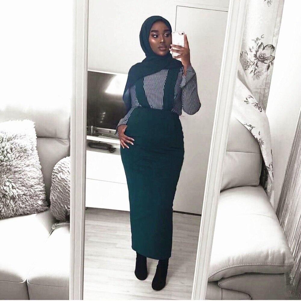 Mode femmes ceinture jupe salopette robe fonds musulmans jupes longues jupe crayon Ramadan parti culte Service vêtements islamiques - 2