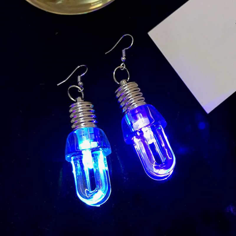85ac5a1149cc3 US $5.89 |Doreen Box 3D Flashing Blinking Light Up Bulb New Fashion Women  Drop Earrings Colorful Party Dance Trend Earring Jewelry, 1 Pair-in Drop ...