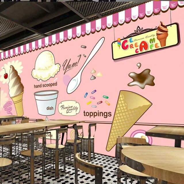 Free shipping custom ice cream shop coffee restaurant