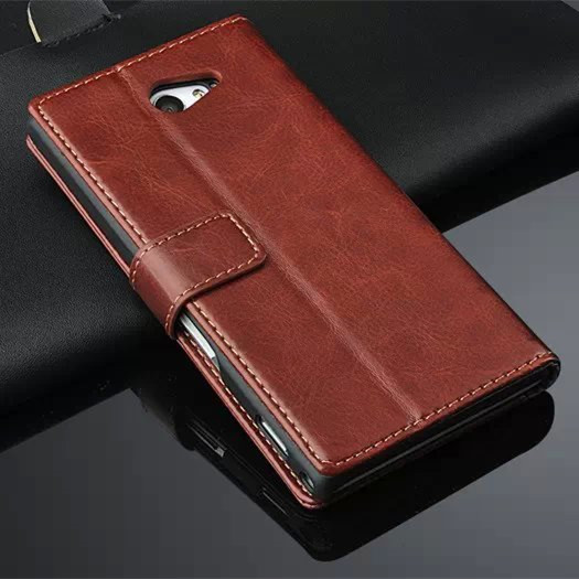 High Quality Flip Cover Case For Sony Xperia M2 Leather Phone Bags Capa Fundas Magnetic Holster For Sony M2 S50h D2303 D2305