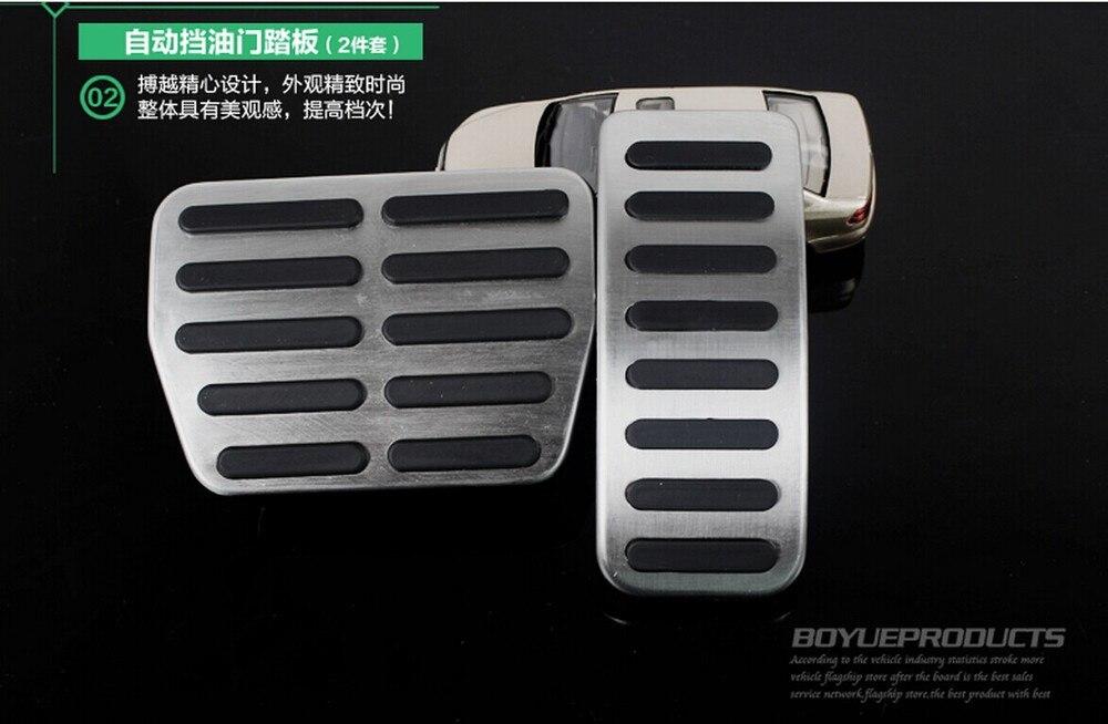 Автомобильный акселератор из нержавеющей стали, педаль тормоза, педаль сцепления для Volkswagen VW Jetta Polo Jetta MK4 Lavida Golf MK4 Skoda Fabia - Название цвета: AT