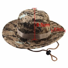 8 Colors Military Camouflage Bucket Hats Fishing Hats With Wide Brim Sun Fishing Bucket Hat Camping Sunscreen outdoor Hat