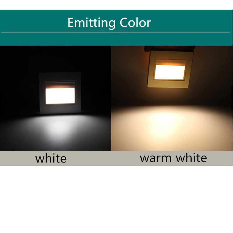 Moderne ABS 1,5 Watt SMD5730 85-260 V Kühl Warm Weiß 86 LED Treppenlicht Wand ecke lampe für villa, hotel lobby Stairway Nacht lichter