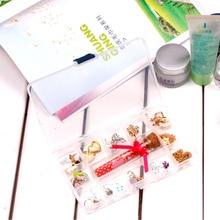 050 15Grids Transparent Tablet Medicine Box Organizer Storage Jewelry storage box 17.5*2*10CM