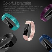 Bluetooth Smart Polsbandjes rechthoek 0.86 inch OLED touch screen sport fitness tracker armband voor Stappenteller Sleep Track