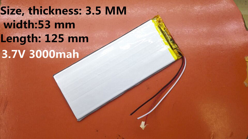 3 7V 3000mah 3553125 Lithium Polymer Li Po Rechargeable Battery For Mp4 Mp5 font b GPS