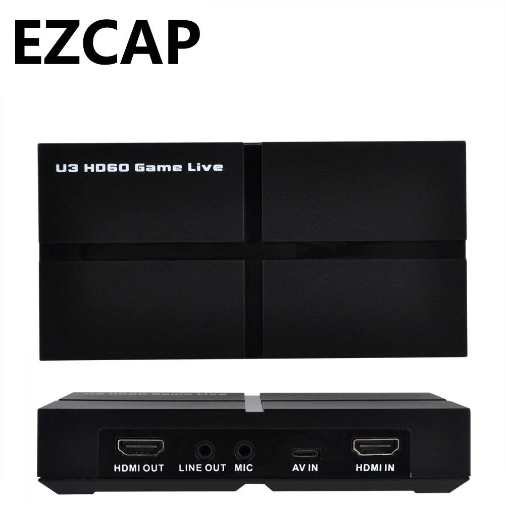 USB 3.0 1080 P HDMI Jeu Vidéo carte de capture D'enregistrement Deux Ordinateur En Direct streaming vidéo YPBPR AV Pour PS3 PS4 XBOX UN conférence