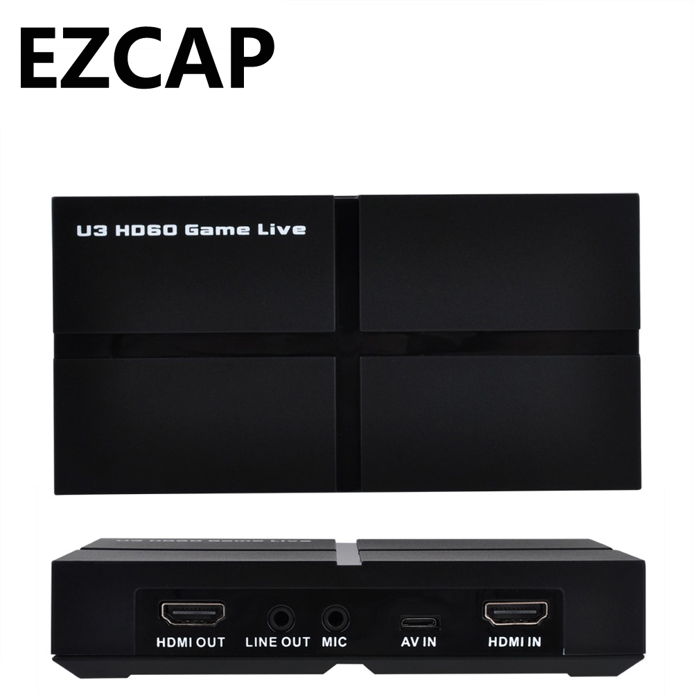 USB 3.0 1080P HDMI Game Video Capture Card Recording Two Computer Live Video Streaming YPBPR AV For PS3 PS4 XBOX ONE Conference 20pcs lot free shipping strg6653 str g6653 g6653 100